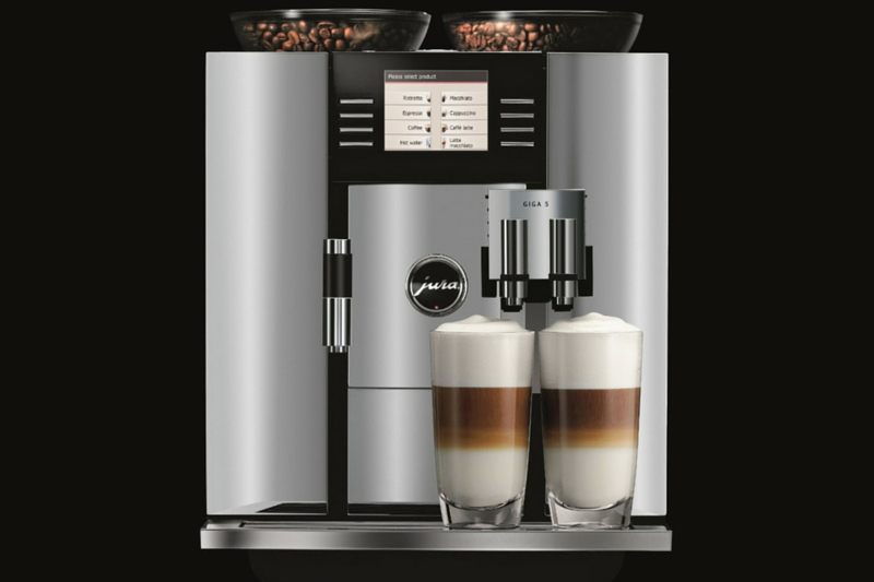automatic coffee machine with water line