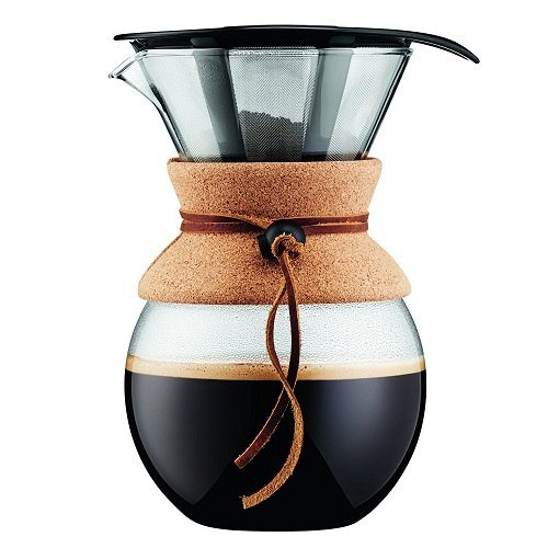 Sand Colored Bodum Pour Over Coffee Maker