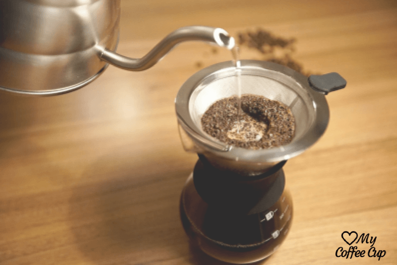Making Pour Over Coffee on a Table