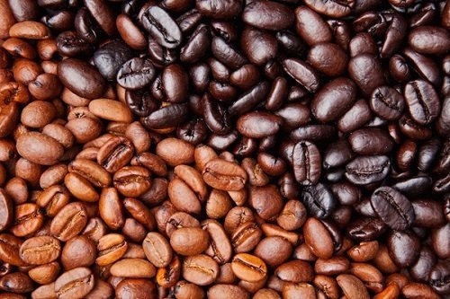 Different Colored Coffee Beans