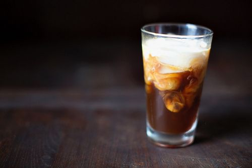 Cold Brew Coffee in a Glass on a Table