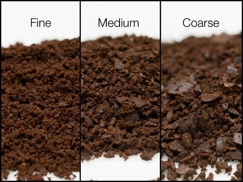Comparing Fine Medium and Coarse Ground Coffee Beans