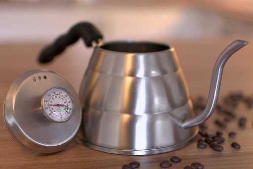 Pour Over Coffee Kettle with Built in Thermometer