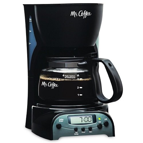 Mr. Coffee 4-Cup Programmable Coffeemaker, DRX5 Design