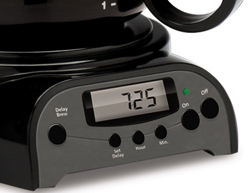 Mr. Coffee 4-Cup Programmable Coffeemaker, DRX5 Timer and Buttons