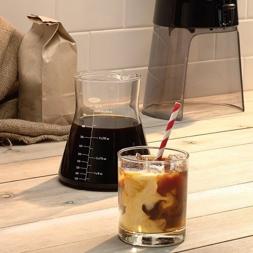 Cold Brew Coffee Made in OXO Good Grips Cold Brew Coffee Maker in a Glass