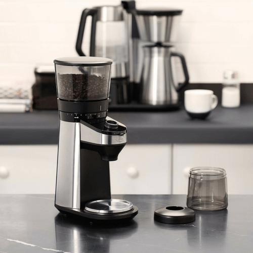Burr Coffee Grinder on Kitchen Counter