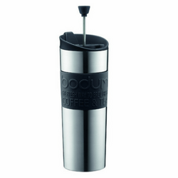 Bodum Insulated Stainless-Steel Travel French Press Coffee and Tea Mug Image