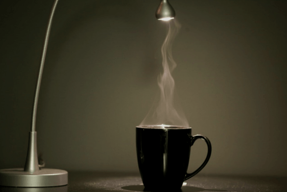 Lamp Highlighting Caffeine Content Cup Coffee