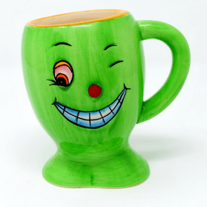 Green Coffee Cup Winking