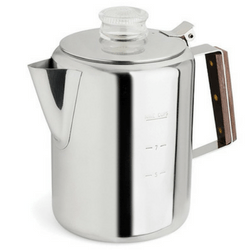 Rapid Brew Stovetop Coffee Percolator, Stainless Steel, 2-9 Cup