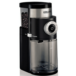 KRUPS GX5000 Professional Electric Coffee Burr Grinder On White Background