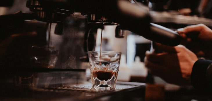 Espresso Machine Pouring A Shot