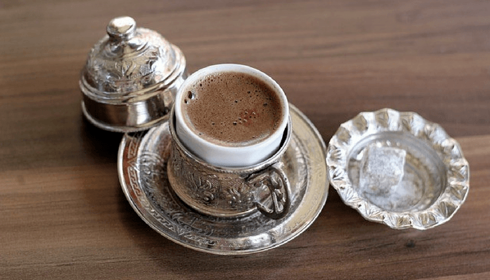 Turkish Coffee On A Wood Background