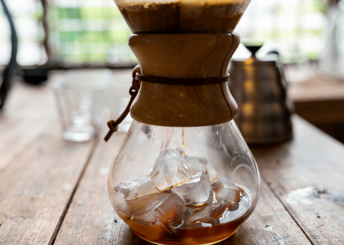 Making Iced Coffee In A Pour Over Coffee Maker