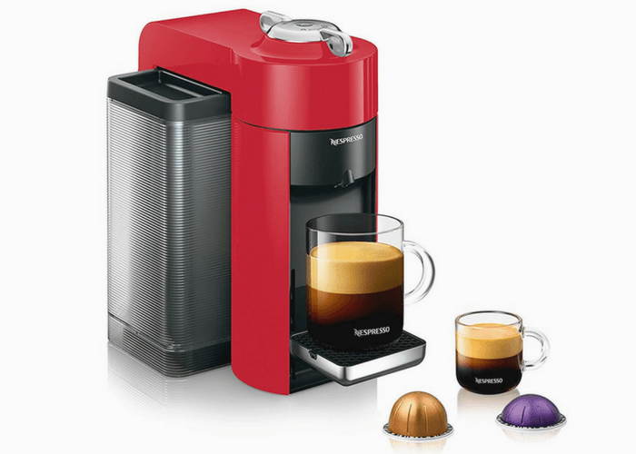 Red Nespresso Vertuo Evoluo Machine