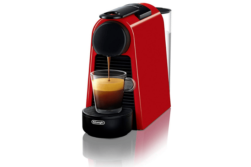 Red Essenza Mini Making An Espresso