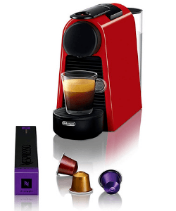 Espresso Maker With Capsules On White Background