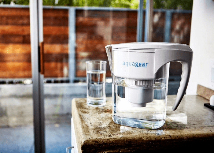 Aquagear Water Pitcher On Counter