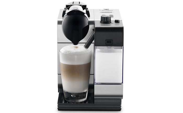 Silver Nespresso Lattissima Plus Original Espresso Machine with Milk Frother by De'Longhi