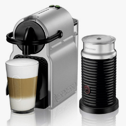 Silver Nespresso Inissia With Milk Frother