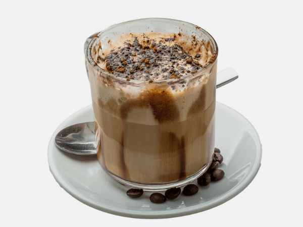 Marocchino Coffee In A Small Glass