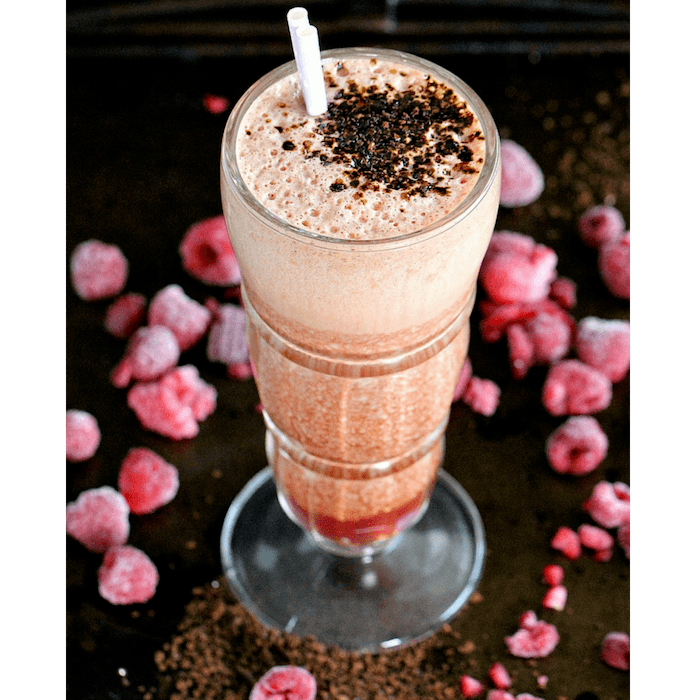 Raspberry Coffee Smoothie Image