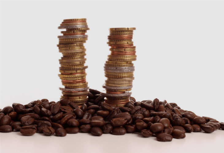 Concept of the price of coffee