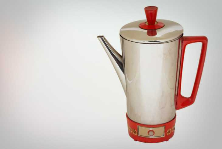 Vintage electric coffee percolator