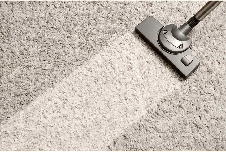 Carpet with vacuum removing oders