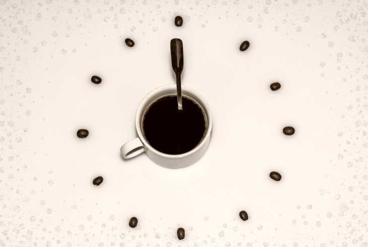 A coffee clock signifying it is time for a break