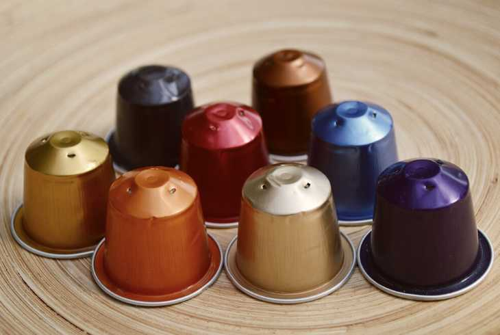 Eight Nespresso pods (capsules)